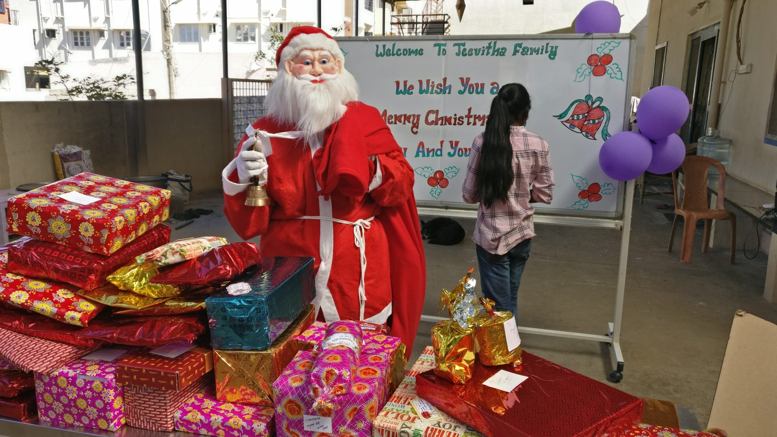 SACHA Santa celebrated Christmas with Kids at Jeevitha Foundation, Bangalore
